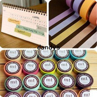 Wholesale New quality solid washi tape colors mix DIY paper tape