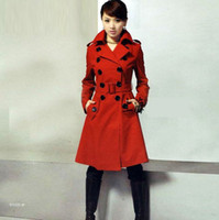 Wholesale Slim elegant double breasted wool winter coat women s wool coat Outwear
