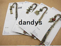 Wholesale New Creative vintage styles HM diamond decorations bookmark Cartoon Book marks Christmas gifts
