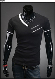 Wholesale New Fashion Men s Personalized Shirts Casual Slim Fit Stylishn Cotton Shirts short sleeved Colors T shirt T05