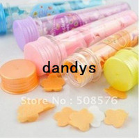 Wholesale washing cleaning bath paper Tube soap slice portable toilet Flower soap cm