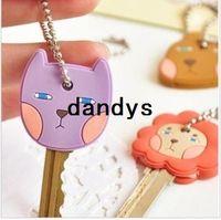 Wholesale Korea style Romane cute animal design soft key cover Key chains