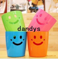 Wholesale Plastic Mini smile basket Debris Trash barrel Pen Holders box Storage bucket