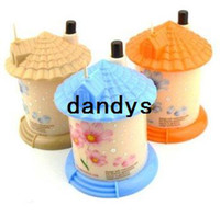 Wholesale 24Pcs pocket Plastic Cute House Design Automatic Toothpick Holder dispenser Box