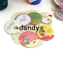 Wholesale Creative vintage style hand Mirror portable pocket cosmetic mirror