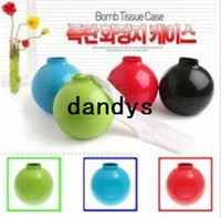 Wholesale Candy color round bomb design Paper towels tissue extraction Tissue Box Table Decoration amp Acces christmas Gift