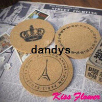 Wholesale New ZAKKA style soft wooden design cup mat diameter cm sweet cup pad coaster Design FreeShipping