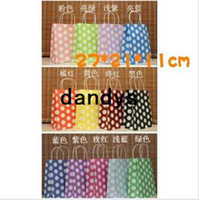 Wholesale NEW dots gift paper bag CM Kraft bag Christmas bag price