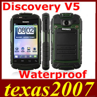 Wholesale Discovery V5 Anti Android Cell Phone quot Smart Phone SC8810 Waterproof Dustproof Shockproof GHz Dual Cam BlueTooth Android