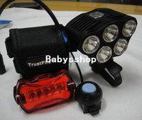 Wholesale TrustFire mAh Battery x CREE XM L T6 LED Lumen Cycling Front Bike Bicycle Light Lamp HeadLamp HeadLight
