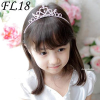 Wholesale Beautiful Clear Crystal Diamonds Wedding Hair Clips Crown Flowergirls Headpiece For Lady FL18