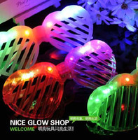 Christmas   Fashion Flash Glowing Glasses Led Light Shutter Eye glasses Heated-shaped Sunglasses Party Dress