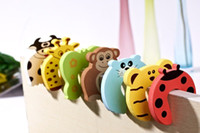 Wholesale 20pcs set Child kids Baby Animal Cartoon Jammers Stop Door stopper holder lock Safety Guard Finger