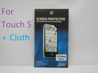 Wholesale Ultra Clear Anti Scratch Screen Protector Protective Film For Apple iPod Touch Retail Package Post