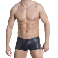 Cheap Boxers Shorts Man Boxers Best Sexy Faux Leather New Hot Underwear