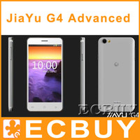 Wholesale JiaYu G4 octa core G4S Advanced Android Cell phone MTK6592 Cell phone GPS Renita screen Dual camera WCDMA G GSM G RAM GB GB Rom