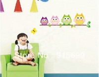 Wholesale Top Me OWL TREE BRANCH WALL MURAL DECALS BABY GIRL NURSERY KIDS ROOM STICKER HOME DECOR TM1009