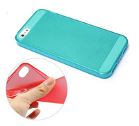 For Apple iPhone wholesale resale - 100pcs Silicon Dustproof Case Soft TPU Case For iphone Iphone5 With Dustproof Plug Back Cover Dust Cap For Resale Without Package