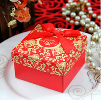 Favor Boxes Red Paper European Paper Candy Box Wedding Sweet Candy Boxes Party Favor Gift