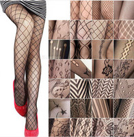 Wholesale Sexy Black Women Fishnet Net Pattern Jacquard Pantyhose Tights