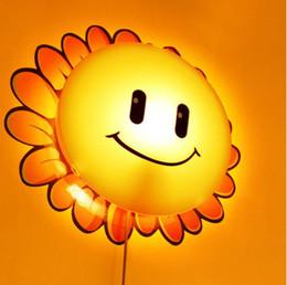 Wholesale DIY Paper Wall Lamp Cartoon Atmosphere nightLights Novelty Wallpaper Lamp dog pig Face toward the sun flowers for choose