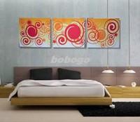 Cheap Stylish Abstract Wall Art Print on Canvas Set Modern