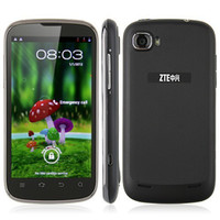 Android 5.0-8.0MP with Bluetooth ZTE V970 Smart Phone 4.3 Inch IPS QHD Screen MTK6577 Dual Core 1G RAM 3G GPS - Black