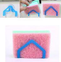 Tableware bathroom accessories brands - Brand new piece sponge Holders Storage sucker Racks bathroom Accessories Xmas gift