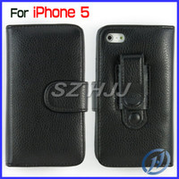 Leather For Apple iPhone  Belt Clip Flip Leather Case Wallet Case with Credit Card Holder for iphone 5 5G