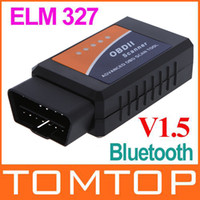 Wholesale Buletooth ELM ELM327 V1 OBD2 CAN BUS can work on mobile Car diagnostic cable Auto Scanner K341