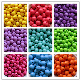 Wholesale 12mm Acrylic Solid Beads for Christmas Jewelry Chunky Necklace and Bracelet