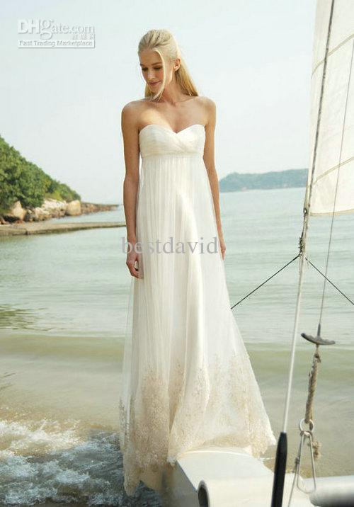 Summer strapless beach wedding dresses 2013 sweetheart a for Strapless summer wedding dresses