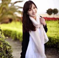 Long fabric silk georgette - Women Summer chiffon scarves light fabric cool beach scarf gauze girls georgette shawls t5350