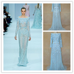 Wholesale 2013 Gossip Girl Elie Saab Celebrity Dress Real Picture A Line Red Carpet Formal Evening Gown get one pearl necklace for free