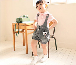 Wholesale 2013 Summer Children clothes new style lovely Loli Short sleeve T shirts gallus cowboy shorts baby sets girls suit size sets