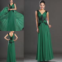 A-Line Modern Appliqué Wow Factor! New Sexy Prom Dress Formal Evening Dresses Black Lace Applique Chiffon Long Dress Custom Made