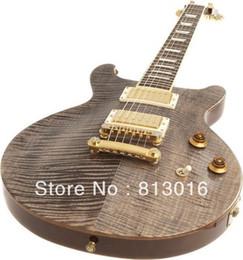G ¡Guitarra eléctrica de encargo de la tapa del arce del doble de D.C! ¡¡Envío gratis!! desde guitarra corte envío libre fabricantes