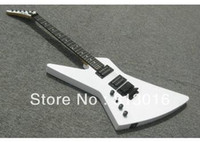 Solid Body left hand - 2012 new arrival white dot inlay ebony fretboard explorer shaped left handed electric guitar bolt on joined in stock HOT