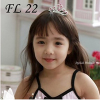 Wholesale Fantasy Clear and Red Fashion Jewelery Crystal Tiaras Diadem For Flower Girls in Wedding FL22