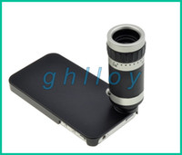 Wholesale New optical zoom iPhone telescope for iphone4 s iphone5 external telephoto lens camera photography