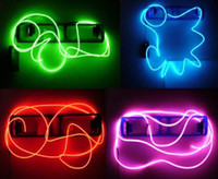 Wholesale 9ft Blue Neon Glowing Strobing Electroluminescent Wire El Wire