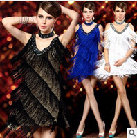 Wholesale Fashion women sexy evening dresses color Tassel Bar costumes fashion diva dress Evening dress DS lead dancer clothing