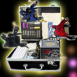 Wholesale Complete Tattoo Kit Machine Guns Needles Power Needles Equipment Sets Supplies USA warehouse K058