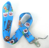 Lanyard adventure gifts - New ADVENTURE TIME mobile Phone card lanyard neck straps gifts
