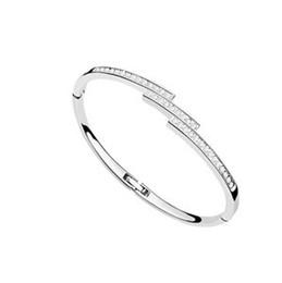 Fashion New Crystals from Swarovski Elements Bracelets Bangles Women Friends Joyas One Direction Valentine's Day Gift 7442