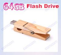 Wholesale DHgate GB Wood Clamps Shape USB Flash Memory Pen Drive Sticks Thumb Drives Disks Discs GB Pendrives Thumbdrives J052V
