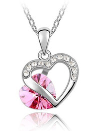 Wholesale Bridal Jewelry Heart Pendant Crystal Necklace For Women make with Swarovski Elements Crystal Necklace Pendants Fashion Jewelry