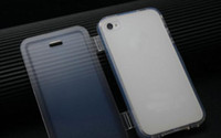 Wholesale transparent tpu flip cover for iphone g g s phone bags cases for iphone4s back cover for iphone4g gift