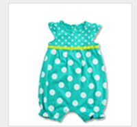 Wholesale New Style Personalized Trendy Girls Children Summer Clothes Empire Waist with Belt Baby Rompers Lovely Soft Girls Jumpsuits ON SALE