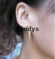 Wholesale Freeshipping brand punk style gold color ear clip earring ear cuff Promotion